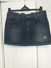BNWT Evisu X Puma Denim Mini Skirt W 32 L 14