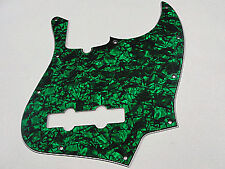 D'ANDREA PRO JAZZ BASS PICKGUARD 10 HOLE GREEN PEARLOID MADE IN THE USA