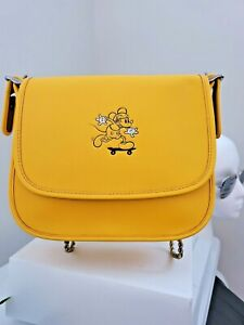 Disney X Coach Limited Edition Mickey Saddle Bag 23 Glovetanned Leather F38421