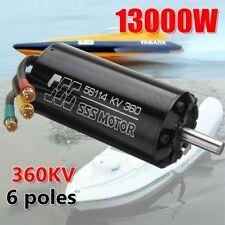 13000W SSS 56114/360KV Brushless Motor 6 Poles For RC Marine Boats Surfboard