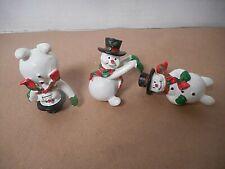 Tumbling Snowmen set of 3 Christmas Figurines