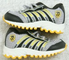 K-Swiss Tubes Athletic Shoes 3 Three Infants Kids Man Made Materials Gray Yellow
