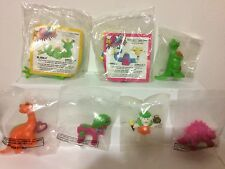 McDONALDS 1986 VINTAGE HAPPY MEAL TOYS LOT TINOSAURS & MIX EM UP MONSTERS - NEW