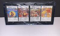 4 Walt Disney Storyteller Cassette Tapes- BandNew -Nmint- Snow White-Pinocchio