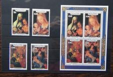 More details for aitutaki 1986 christmas paintings by durer set & miniature sheet mnh