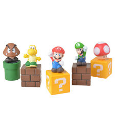 5PCS Set Super Mario Bros Action Figure Cake Topper PVC Game Toy Kid Gift Doll