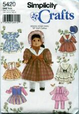 """Simplicity Sewing Pattern 5420 46cm Doll """"Design Your Own"""" Clothes"""