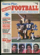 Game Plan College Football 1980  ANNUAL Preview    MBX90