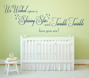 We Wished Upon A Shining Star, Vinyl Wall Art Sticker, Bedroom, Nursery,Children