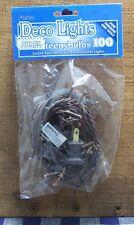 Indoor 100 Clear Teeny Bulbs/Rice LIGHTS String/Strand Brown Cord Christmas