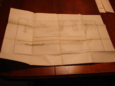 1878 Greenwood Furnace Map Showing Fossil Ore Ranges Stone Creek Huntingdon, Co.