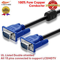 6FT SVGA VGA Monitor PC Video Cable 25' Foot M/M Male to Male by Yellow-Price