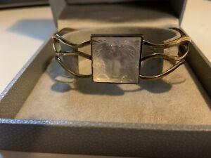 Lalique Masque de Femme gold bracelet
