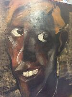 Original Antique oil painting on Board Portrait  by LEONARD MAY(SIGNED)
