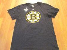 REEBOK NHL BOSTON BRUINS JAROME IGINLA BLACK STANLEY CUP JERSEY T-SHIRT SIZE M