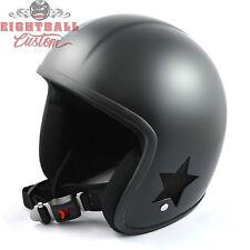 Original Bandit  Helm Jet SKY II für Harley & Custombike Fahrer schwarz Gr. L