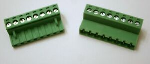 8 Pin - 5mm : Female & Male Connector Pair / Terminal Block Mating Set