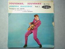 Johnny Hallyday 45Tours EP vinyle Souvenirs Souvenirs Vogue