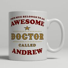 Personalised Doctor hospital student PHD gift mug birthday christmas idea