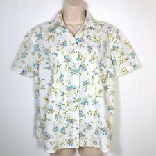 Mountain Lake Women's Blouse Size Large Button Front Short Sleeve
