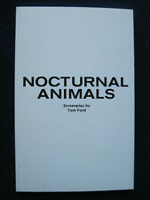 NOCTURNAL ANIMALS Script of TOM FORD Film - 1st Appearance in Book Form