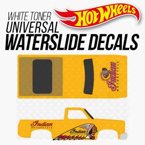 Hot Wheels INDIAN MOTO Custom White Toner Universal WaterSlide Decal 1/64 Scale