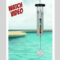 """Woodstock CHAKRA CHIMES 7 STONES Wind Chime 17.5"""" Length Brand NEW Fast Ship"""