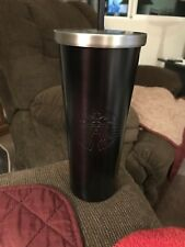 HTF 2017 Starbucks Matte BLACK Stainless Steel Tumbler 24oz Venti Cold Cup