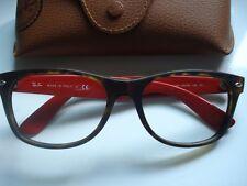 New Ray Ban Wayfare 2132 Tortoise Red Cream Eye Glasses Frame Case~Italy~Free SH