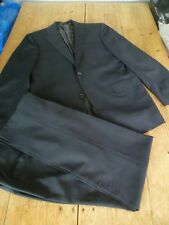 """Beautiful CORNELIANI Dark Grey Wool & Mohair Classic Single Breasted SUIT, 38"""""""