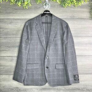 J. CREW NWT Slim Fit Ludlow English Cotton-Wool Windowpane Suit Jacket Size 40S
