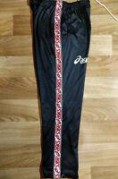 Asics 90's Vintage Mens Tracksuit Pants Trousers Training Citifin Black