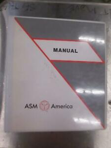 ASM America Test Procedure AE 2500 Watt Generator Manual, 11-117480A01, Used