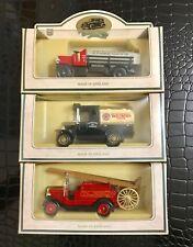 Chevron Comm Model Lot 3- Red Crown Gasoline,Zerolene,Refinery Fire Truck Cars