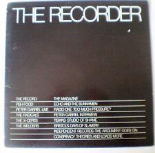 """THE RECORDER"" - BRISTOL COMP LP & MAG: PETER GABRIEL/FISH FOOD/RADICALS/X-CERTS"