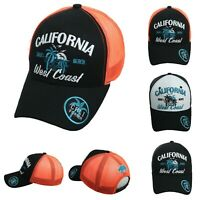 CALIFORNIA BEACH CALI Baseball Cap Snapback Hat Mesh Trucker West Coast Summer