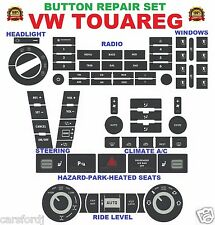 2004-2009 VW TOUAREG BUTTON REPAIR DECAL SET OF 7