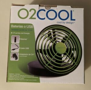 O2 Cool 5 Inch Battery or USB Operated - Green Portable Fan