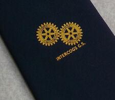 Rotary International intercogs G.S. Club Asociación Corbata Vintage 1970S Azul Marino