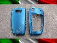 COVER CHIAVE GUSCIO AUDI azzurra 3 TASTI SCOCCA RIGIDA A1 A3 A4 A6 Q7 Q5 TT