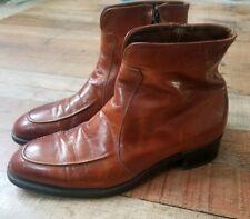 Mens Florsheim Boots Size 6.5 Brown Chesnut short ankle