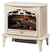 Dimplex Cream Freestanding Electric Stove Fireplace