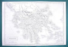 KINGDOM OF GREECE - c. 1835 Original Map 11 x 16""