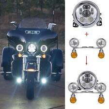 "Set 5.75"" LED Headlight Passing Lights Turn Tignals for Kawasaki EX250 VN1500"
