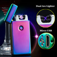 RAINBOW LIGHTER DOUBLE ARC METAL WITH GIFT BOX OPTION