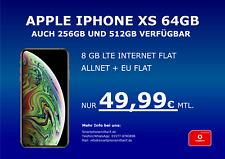 Apple Iphone XS 64GB mit Vodafone Vertrag Allnet Flat 8GB LTE nur 49,99€ mtl.