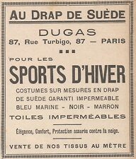 Z9160 DUGAS pour les Sports d'Hiver -  Pubblicità d'epoca - 1929 Old advertising