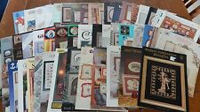 Lot of 56 assorted cross stitch charts patterns~ gently used