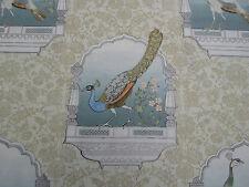 Designers Guild Curtain Fabric 'Peacock Flower' Celadon 3.4 METRES 100% Linen