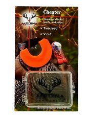 Medina Game Calls Cheater Two Reed V Cut Turkey Mouth Call w/case!